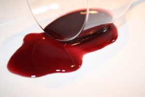 Remove wine stains from carpet and upholstery