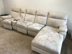 Couch Upholstery Cleaning Before and after.